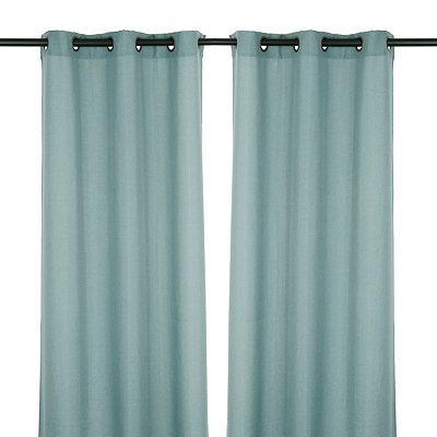 Aqua Rita Curtain Panel Set, 84 in.