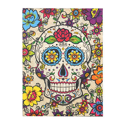 Glittered Sugar Skull Canvas Art Print