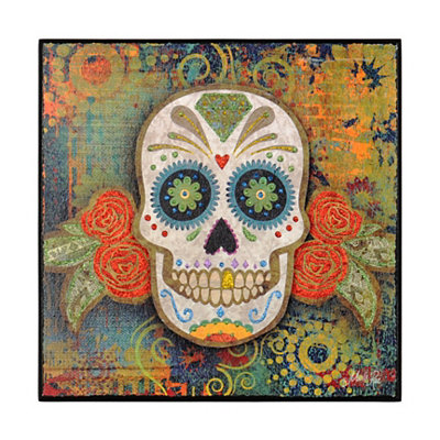 Glittered Sugar Skull Plaque