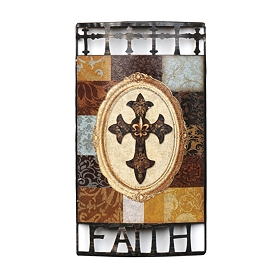 Patchwork Faith Metal Plaque