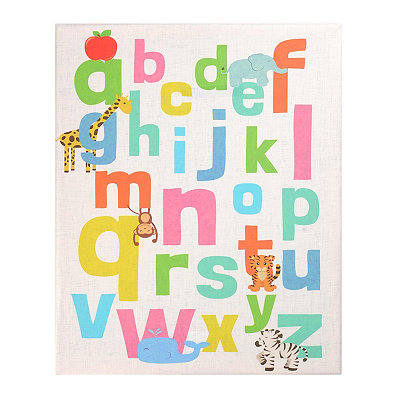 Alphabet Canvas Art Print