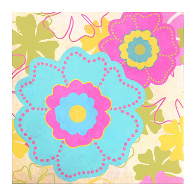 Flower Power Canvas Art Print