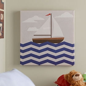 Chevron Sails I Canvas Art Print