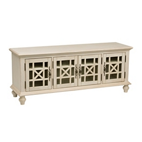 Antique White Media Console