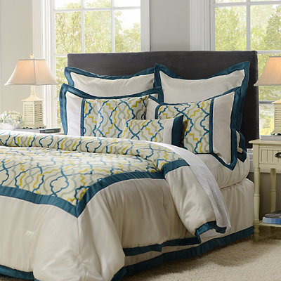 Teal Marrakech 8-pc. Queen Comforter Set