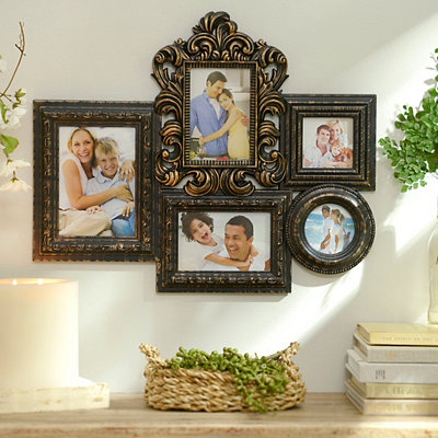 Black & Gold Baroque Collage Frame