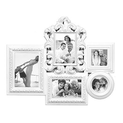 White Baroque Collage Frame
