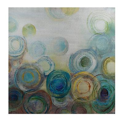 Peacock Circles Canvas Art Print