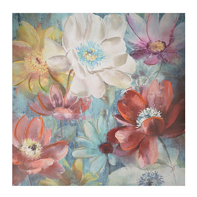 Luxuriant Flowers Canvas Art Print