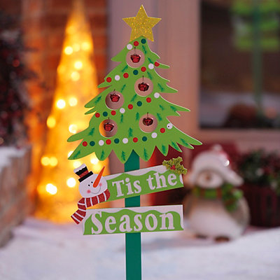 Wooden Tree Jingle Bell Stake