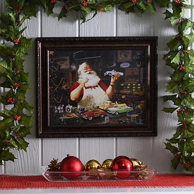 Santa's Hobby Framed Art Print