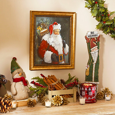 Kris Kringle Framed Art Print