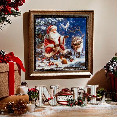 Christmas Visit Framed Art Print