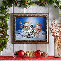The Snow Family Framed Art Print
