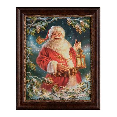 Enchanted Santa Framed Art Print