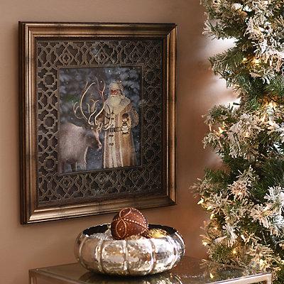 Classic St. Nick Framed Art Print