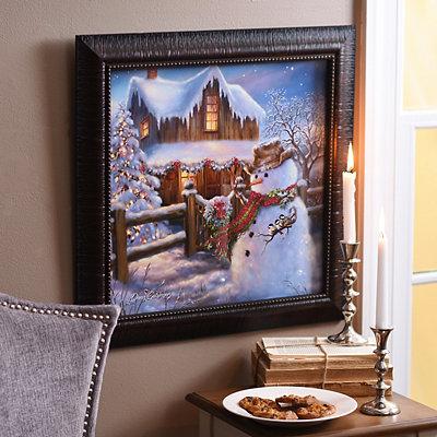 Christmas on the Range Framed Art Print