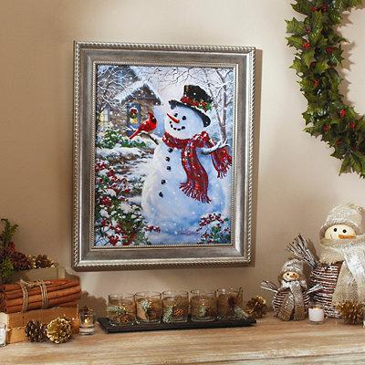 Snowman & Friends Framed Art Print