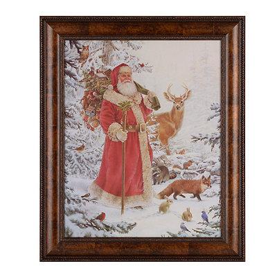 Santa & Friends Framed Art Print