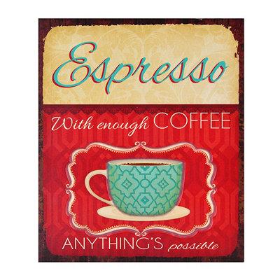 Vintage Espresso Plaque