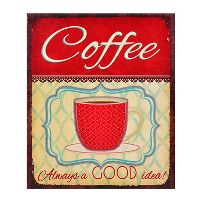 Vintage Coffee Plaque