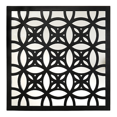 Black Lattice Mirrored Plaque