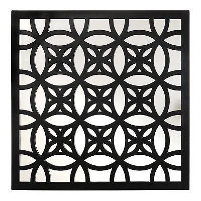 Black Lattice Mirrored Plaque