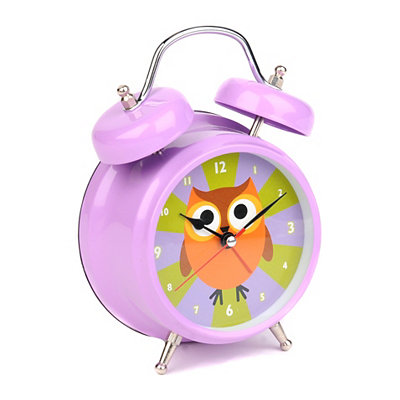 Talking Owl Tabletop Alarm Clock