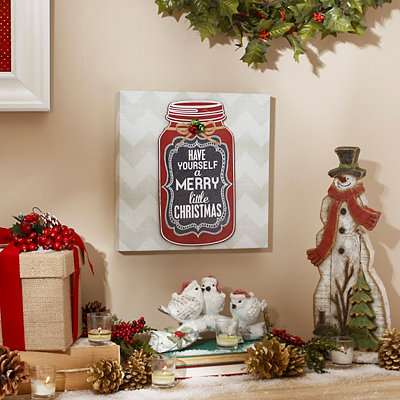 A Merry Little Christmas Canvas Art Print