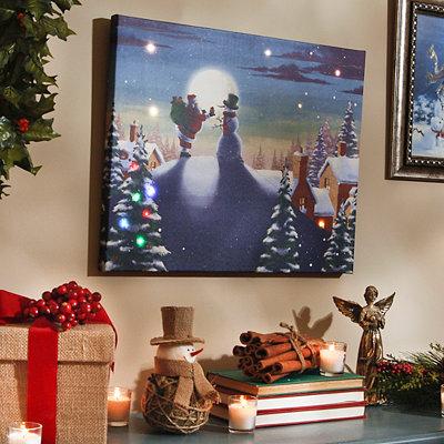 Christmas Greetings Musical LED Canvas Art Print