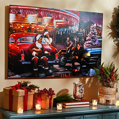 Holiday Crossroads LED Canvas Art Print