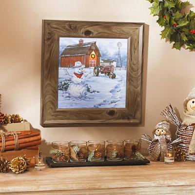 Christmas on the Farm Framed Art Print