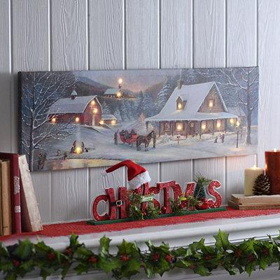 Winter Wonderland LED Canvas Art Print
