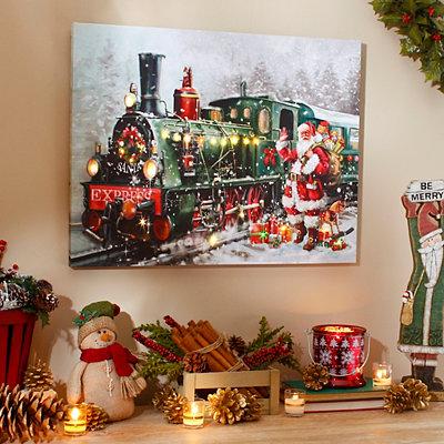 Holiday Express LED Canvas Art Print