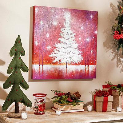 White Christmas Tree Canvas Art Print