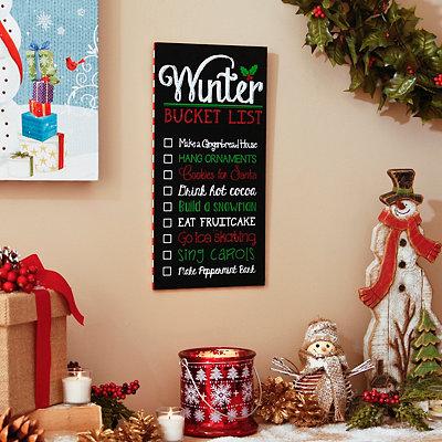 Winter Bucket List Plaque