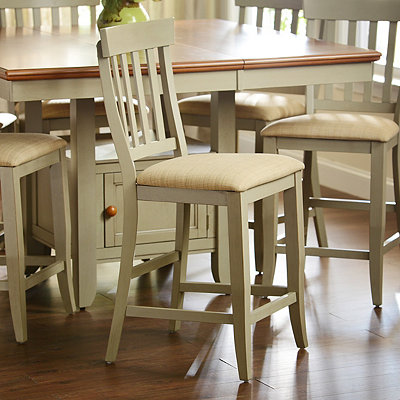 Pottersville Antique Gray Counter Stool