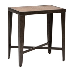 Glenna Elm & Metal Accent Table