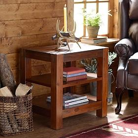 Rustic Loft Accent Table