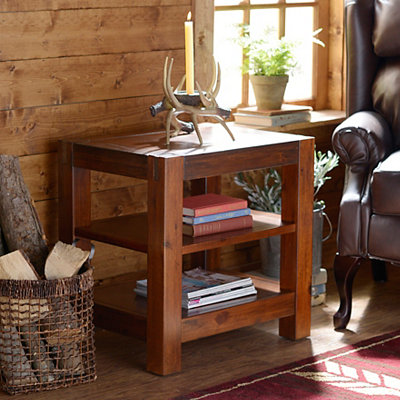 Rustic Loft Accent Table