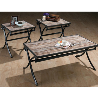Meredith Gray Metal Tables, Set of 3