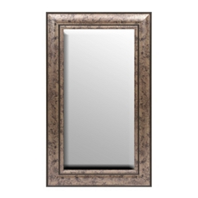 Antique Silver Framed Mirror, 17x29