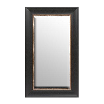 Black & Gold Framed Mirror, 17x29
