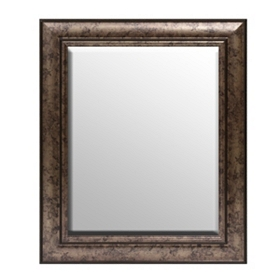 Antique Silver Framed Mirror, 21x25