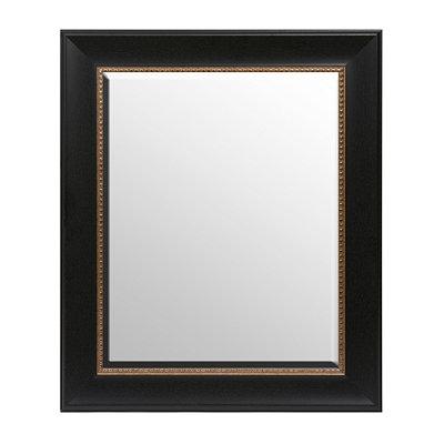 Black & Gold Framed Mirror, 21x25