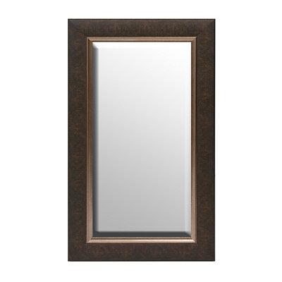 Matte Bronze Framed Mirror, 17x29
