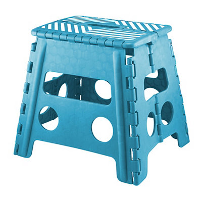Blue Striped Step Stool