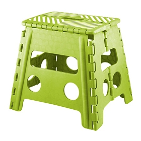 Green Striped Step Stool