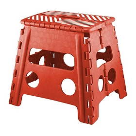 Red Striped Step Stool