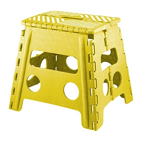 Yellow Striped Step Stool